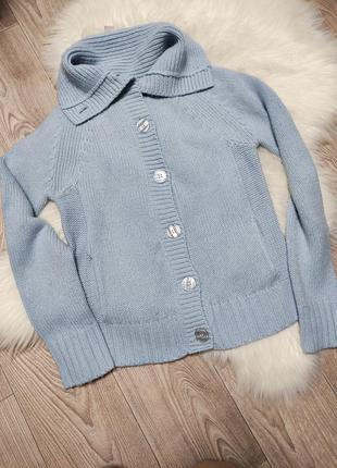 Женский зимний свитер на пуговицах кардиган вязаный теплый
