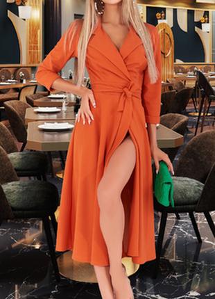 Приталенное платье в модном оттенке (м-0587)