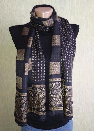 Стильный двусторонний двуслойный шарф из натурального шелка
