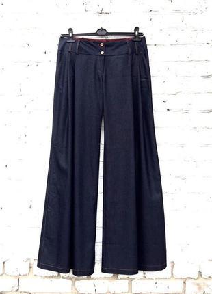 Брюки тонкий джинс очень широкие штанины низкая посадка, турция, fi more, 42 (3997)