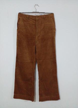 Широкие брюки из крупного вельвета