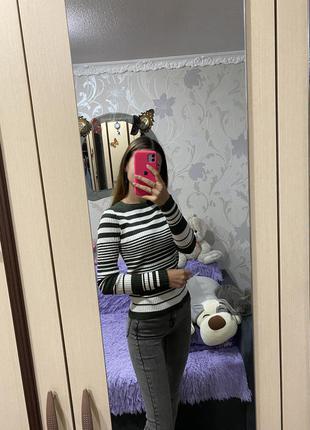 Полосатый свитерок в рубчик