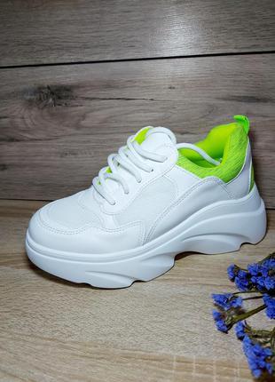 На платформе 🌿 кроссовки stilli женские массивная подошва кросівки