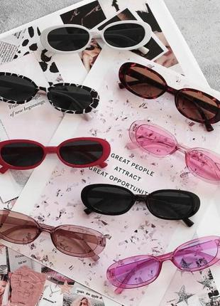 Черные ретро очки женские солнцезащитные очки