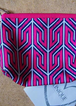 Косметичка clinique плотный текстиль 17 cm