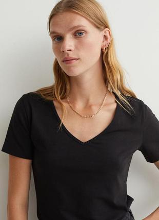 Отличная базовая черная футболка от h&m,p. m/l