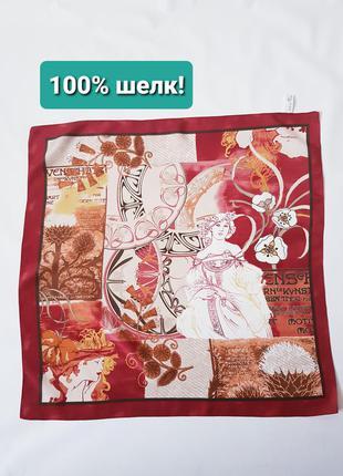 Шелковый шейный платок натуральный шелк bonita