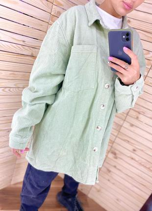 Рубашка плотная оливковая