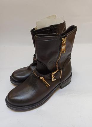 Женские демисезонные кожаные полусапожки after eden.брендовая обувь stock