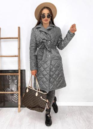 Куртка стёганное пальто в стиле zara синтепон 100
