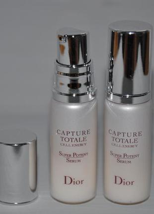Омолаживающая сыворотка для лица dior capture totale c.e.l.l. energy super potent serum 7мл