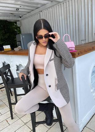 Теплый пиджак из пальтовой ткани