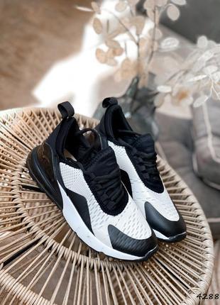 Кроссовки женские lotte черные + белый текстиль + резина кросівки жіночі чорні + білий текстиль