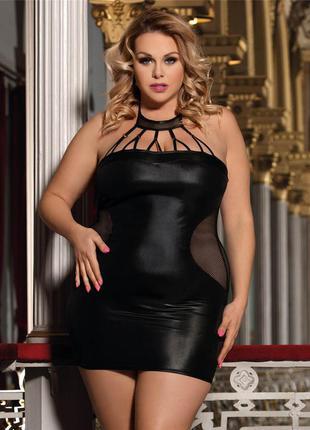 Сексуальное белье. платье из блестящей эластичной ткани. xxl-4xl
