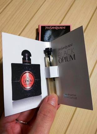 Духи парфюм пробник black opium от yves saint laurent ☕ объём 5мл