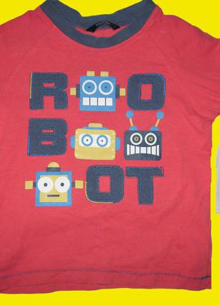 Реглан с роботами,рост 92-98 см