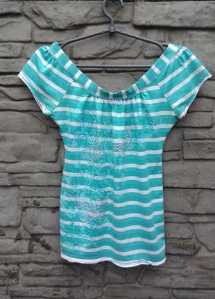 Распродажа!!! блуза в полоску с принтом bay