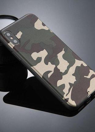Чехол для iphone x / xs military камуфляж
