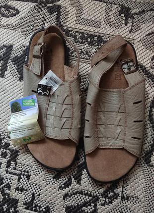 Фірмові німецькі шкіряні босоніжки,made in 🇩🇪,нові з бірками, розмір 43-44.