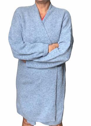 Шерстяное пальто кардиган uniqlo