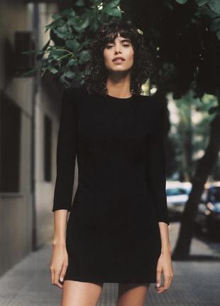 Zara черное мини платье , s, m