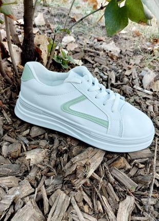 Базовые кеды 🌿 кроссовки на платформе осенние деми