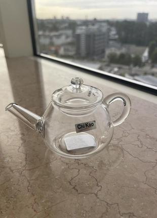 Стеклянный чайник заварочник для чая