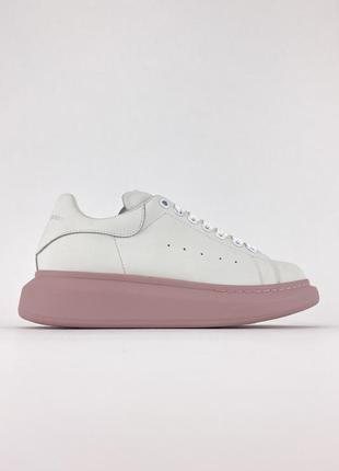 Кеды alexander mcqueen white pink