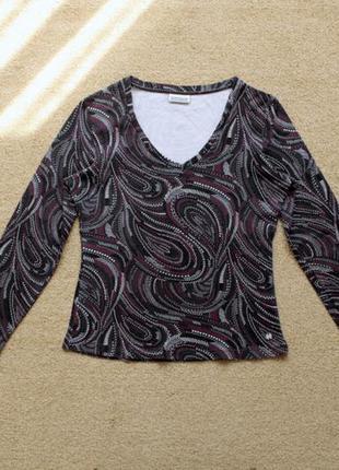 Кофта пуловер лонгслив топ футболка длинный рукав кофточка принт 100% хлопок