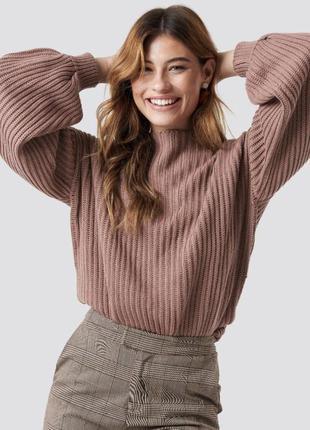 Объемный свитер оверсайз с рукавами буфами, с объемными рукавами