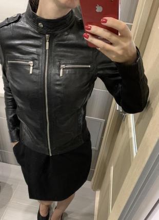 Кожаная куртка xs