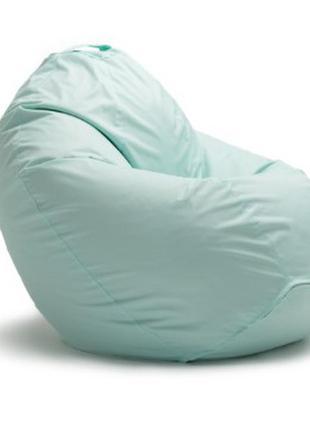 Бескаркасное кресло мешок-груша ортопедическое оксфорд 90*75 см мятный