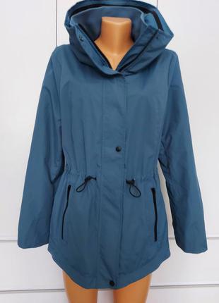 Шикарная куртка ветровка c&a р.46-48 (38/40) удлиненная/непромокаемая/не продуваемая/ германия