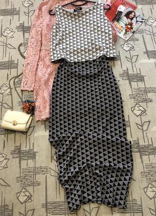 Очень стильное платье макси, missguided, размер 10-12