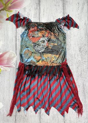 Крутой карнавальный костюм платье хеллоуин tesco xs-s