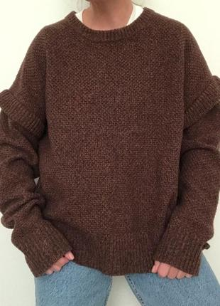 Шерстяной свитер one&other оверсайз стиль cos maje sandro