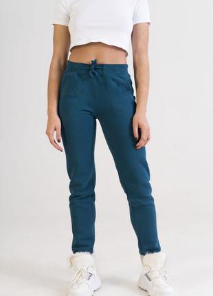 Женские спортивные штаны цвета морской волны colo