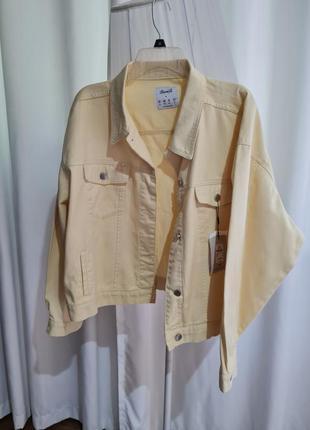 Джинсовая куртка оверсайз стильная размер хл