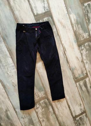 Брюки штани вельветові фірмові. темно темно синій.