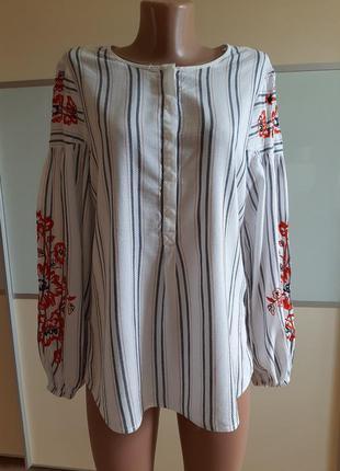 Блуза с вышивкой,  uk12 eur40
