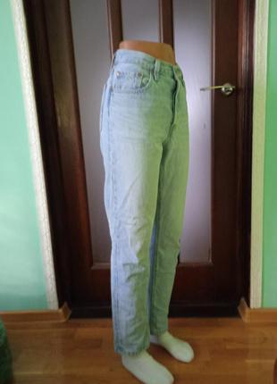 Хлопковые прямые джинсы levis 501.