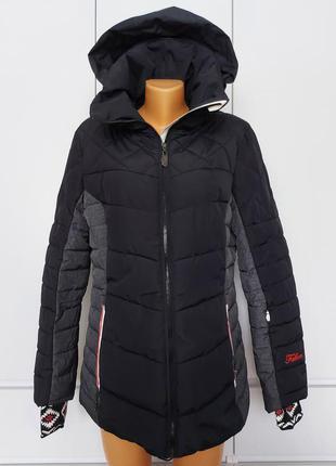 Шикарная зимняя теплая куртка пуховик falcon р. 48-50-52 (xl) мжно на высокий рост