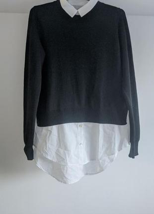 Кофта обманка рубашка h&m