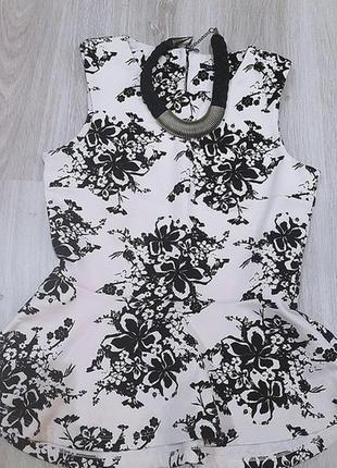 Шикарная блуза с баской