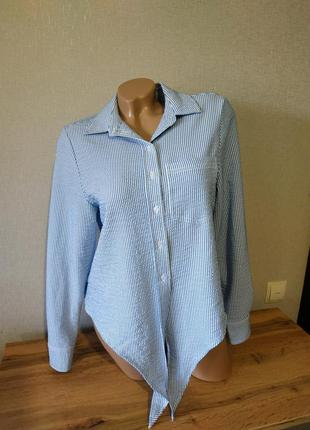 Блуза с завязками, жатка