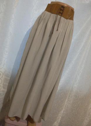 Красивая серая юбка в пол! р.10-38-12-40
