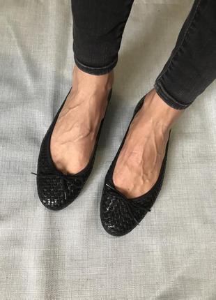 Кожаные туфли балетки 41 размер испания 🇪🇸
