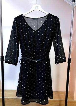 Плаття terranova/ платье женское terranova/ платье в горошек