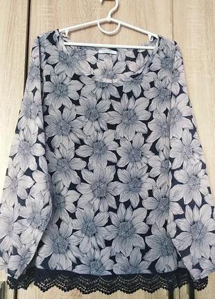 Красивая блузка блуза блузон большого размера 58-60