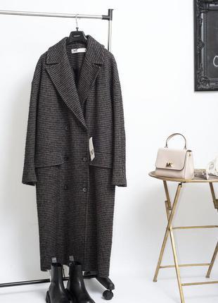 Новое двубортное осеннее пальто zara демисезонное пальто миди оверсайз зара